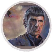 Spock Round Beach Towel by Peter Suhocke