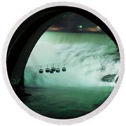 Spokane Falls Round Beach Towel by Sharon Elliott
