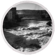 Spokane Falls Spring Flow Round Beach Towel