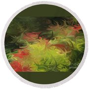 Round Beach Towel featuring the digital art Jardin De Picasso  by The Art of Alice Terrill
