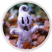 Spooky Autumn Round Beach Towel by Aaron Aldrich