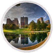 Round Beach Towel featuring the photograph Spoonful Of St. Louis by Deborah Klubertanz