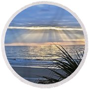 Light Of The Way Round Beach Towel