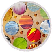 Spots Of Nature Round Beach Towel