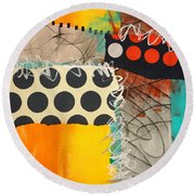 Spotted Fever 1 Round Beach Towel
