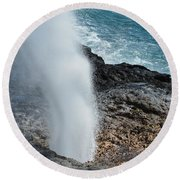 Spouting Horn Round Beach Towel by P S