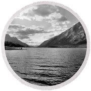 Spray Lake Round Beach Towel