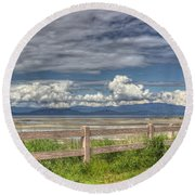 Spring Afternoon Round Beach Towel by Randy Hall