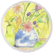 Spring Bouquet Round Beach Towel