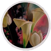 Spring Bouquet II Round Beach Towel