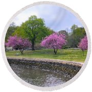 Spring Cove Round Beach Towel by Diana Angstadt