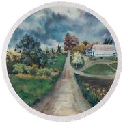 Spring Farm Round Beach Towel