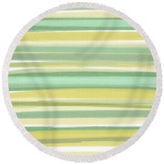 Spring Green Round Beach Towel by Lourry Legarde