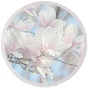 Round Beach Towel featuring the photograph Spring Has Arrived 3 by Susan  McMenamin