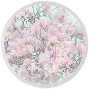 Round Beach Towel featuring the photograph Spring Has Arrived I by Susan  McMenamin