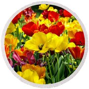 Round Beach Towel featuring the photograph Spring Is Coming by Nava Thompson