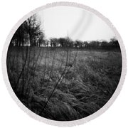Spring Is Near Holga Photography Round Beach Towel
