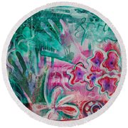 Spring Round Beach Towel