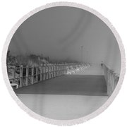 Spring Lake Boardwalk - Jersey Shore Round Beach Towel