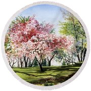 Spring Morning Round Beach Towel