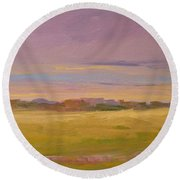 Spring Morning In Carolina Round Beach Towel