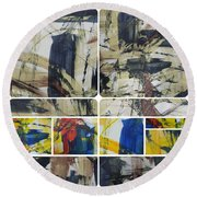 Round Beach Towel featuring the photograph Spring Part Two by Sir Josef - Social Critic - ART