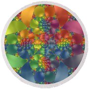 Spring Promises Fractal Round Beach Towel