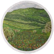 Spring Remembrances Round Beach Towel by Felicia Tica