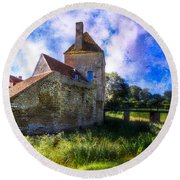 Spring Romance In The French Countryside Round Beach Towel by Debra and Dave Vanderlaan