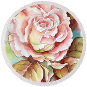 Spring Rose Round Beach Towel by Inese Poga