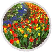Spring Streaming By Round Beach Towel