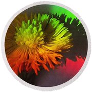 Spring Through A Rainbow Round Beach Towel