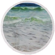 Spring Wave Round Beach Towel
