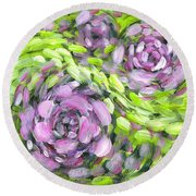 Spring Whirl Round Beach Towel