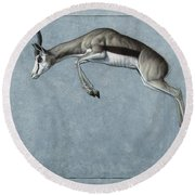 Springbok Round Beach Towel by James W Johnson