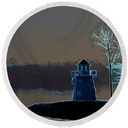 Round Beach Towel featuring the photograph Springfield Lighthouse by J R Seymour