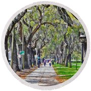 Springtime In Savannah Round Beach Towel by Lydia Holly
