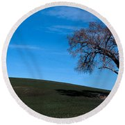 Springtime In The Palouse Round Beach Towel by Sharon Elliott