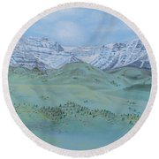 Springtime In The Rockies Round Beach Towel by Michele Myers
