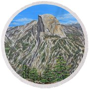 Springtime In Yosemite Valley Round Beach Towel