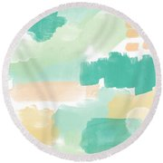 Spumoni- Abstract Painting Round Beach Towel