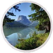 Squaretop Mountain - Wind River Range Round Beach Towel