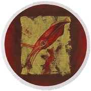 Squid Round Beach Towel