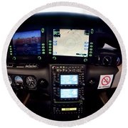 Sr22 Cockpit Round Beach Towel