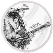 Stevie Ray 1 Round Beach Towel