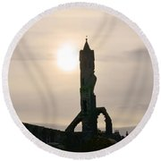 St Andrews Scotland At Dusk Round Beach Towel by DejaVu Designs
