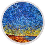 St. Andrews Sunset Round Beach Towel