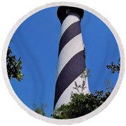 St Augustine Lighthouse Round Beach Towel