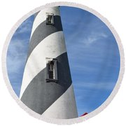 St. Augustine Lighthouse Round Beach Towel by Richard Bryce and Family
