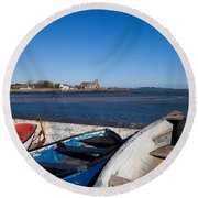 St Augustines Church In Abbeyside Round Beach Towel